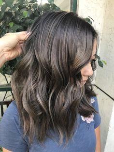 Lovely hair color - New Hair Design Hair Color And Cut, Ombre Hair Color, Cool Hair Color, Brown Hair Colors, Hair Color 2018, Hair Colour, Ombre Hair Long Bob, Hair Highlights, Ash Brown Highlights