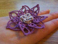 gothic flower ring steampunk ring flower statement by MamaTats, $14.00