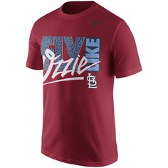 Men's St. Louis Cardinals Nike Red Cooperstown Player Verbiage T-Shirt