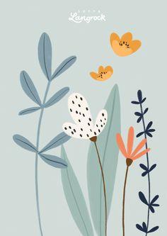 Illustration Blume, Botanical Illustration, Botanical Drawings, Afrique Art, Ipad Art, Motif Floral, Floral Illustrations, Flower Wallpaper, Pattern Art