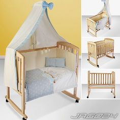 Baby Bedside Co-Sleeper Bed Cot Crib Cradle Child Infant Rollaway + Bedding NEW in Baby, Nursery Decoration & Furniture, Cots & Cribs Co Sleeper Bed, Baby Bassinet, Baby Cribs, Baby Bedroom, Baby Boy Rooms, Baby Furniture Sets, Cradle Bedding, Diy Crib, Ideas