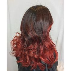 awesome 45 Thrilling Ways of Achieving the Red Ombre Hair - Sassy Flames