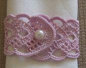 Articles similaires à ronds de serviette au crochet, 2 pièces lilas sur Etsy