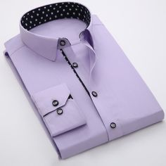 Find More Dress Shirts Information about Purple Solid Mens Shirts Long Sleeve Dress Slim Fit Men Shirt Patchwork Dot Casual Business Social Shirt Man 2016 Chemise Homme,High Quality shirt blank,China shirt italy Suppliers, Cheap shirt models from Eric's on Aliexpress.com