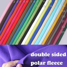Double-sided-Polar-fleece-fabric-anti-pilling-Hoodies-blankets-coats-BTY $13 China