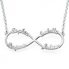 Sterling Silver Infinity 4 Names Necklace - Awesome idea! Love it!  www.endlessxpressions.com/rep/#JenniferSandru