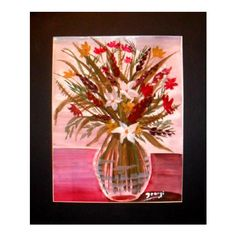 Bouquet of flowers, glass vase, flower wall decor, wall pictures,... ($30) ❤ liked on Polyvore featuring home, home decor, wall art, white wall art, floral paintings, photo wall art, watercolor flower painting and watercolor landscape painting