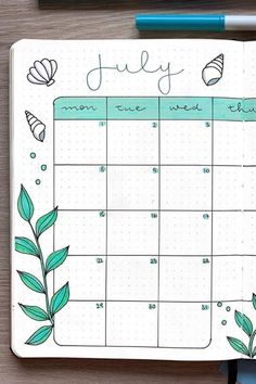 22 Best July Monthly Spread Examples For Inspiration Planning out a brand new month in your bullet journal and need some inspriation? Check out the best July monthly spread examples for ideas! Bullet Journal School, Bullet Journal Month Cover, Bullet Journal Monthly Spread, Bullet Journal Writing, Bullet Journal Aesthetic, Bullet Journal Ideas Pages, Bullet Journal Layout, Journal Inspiration, Bellet Journal