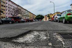 Calles en mal estado en la capital grancanaria