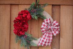 Rustic Holiday Wreath, Christmas Wreath, Holiday Wreath, Country Wreath by BranchedBloomsDesign on Etsy