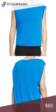 Helmut Lang blue jersey top nwt Sz small Blue layered jersey top Sz small Helmut Lang Tops Blouses