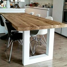 Fresh Esstisch Massivholztisch Holztisch aus Eichenholz Altholz im Industriedesign Holzwerk Hamburg Home Pinterest Living styles Interiors and