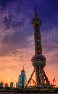 Oriental Pearl Tower in Shanghai_ China