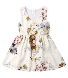 ec0a54dddf4 SALE 45% OFF + FREE SHIPPING! SHOP Our Floral Buttons Dress for Toddler  Girls