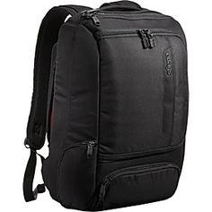 Love the look of this work bag. eBags TLS Professional Slim Laptop Backpack - Solid Black - via eBags.com!