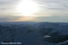Sunset from the mountain - Zugspitze