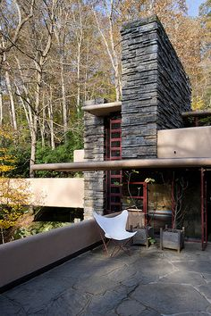 Fallingwater / Kaufman Residence. 1936-9. Bear Run Creek in Mill Run, Pennsylvania. Frank Lloyd Wright.