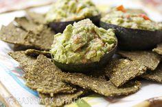 Raw Flax Crackers & Simple Guacamole   Vegan Yack Attack - dehydrator