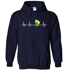 FRENCH GUIANA HEARTBEAT T SHIRTS