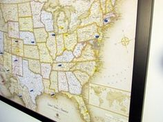 Us world wall maps wall maps homeschool and map skills stick pins to these maps magnetic surfaces to mark countries visited vacations taken gumiabroncs