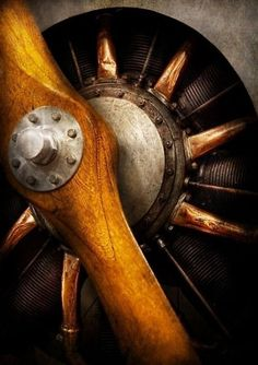 Old airplane propeller