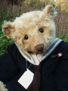 Forget Me Not Bear by Liz Wiltshire