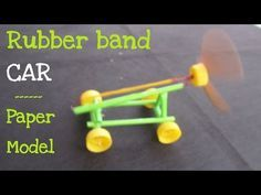 Science, stem, How to make a Paper Rubber Band Powered Car Science Projects, School Projects, Stem Projects For Kids, Crafts For Boys, Fun Crafts, Stem Activities, Activities For Kids, Rubber Band Car, Air Car