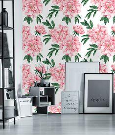 Large Pink Peonies Wallpaper