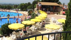 Poolside at Castell Montgri Campsite, Estartit, Costa Brava.  7 nights on offer for £259 instead of £371 from 17th September 2016