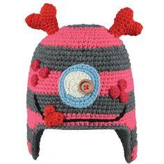 Barts Monster Beanie Kids Ski Hat in Rose