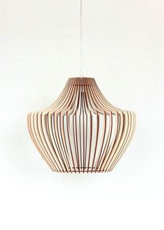 Details about Wood Lamp / Wooden Lamp Shade / Hanging Lamp / Pendant Light / Ceiling Lamp - All For House İdeas Wooden Lampshade, Wooden Chandelier, Wood Lamps, Deco Luminaire, Rustic Lamp Shades, Lampe Decoration, Unique Lamps, Pendant Lights, Pendant Lamps