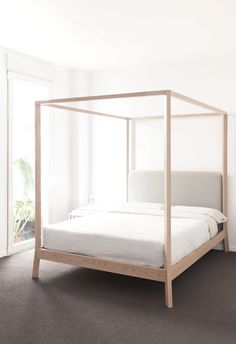 Wooden double #bed BREDA by Punt | #design Borja Garcia