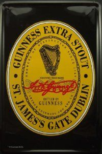Metal Tin Plate Sign Guinness Black Beer Poster Vintage Decor - from $9.99