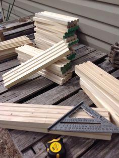 Routering mason bee trays