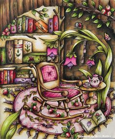Klara Markova/magical Delights/ Elf house/ colouring book/ Ness Butler/ Prisma Pencils/ Polychromos Pencils/ Carovne Lahodnosti/