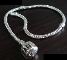"Silver European Charm Bracelet - Stamped ""PANDORA"" and ""925"""