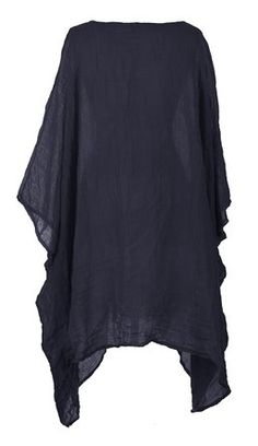 Ladies Womens Italian Lagenlook Quirky Short Batwing Sleeve Plain Linen Kaftan Loose Baggy Oversize Tunic Top Blouse One Size Plus (One Size Plus, Beige): Amazon.co.uk: Clothing