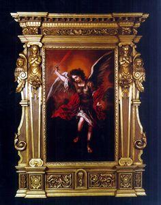 Pintura al oleo San Miguel Arcangel