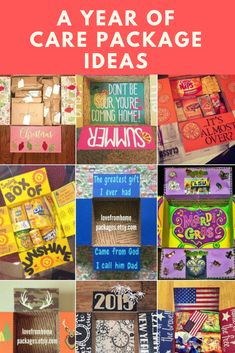A year of care package ideas by month and season Finding Mandee Missionary Care Packages, Deployment Care Packages, Missionary Mom, Homemade Gifts, Diy Gifts, Soldier Care Packages, Soldier Care Package Ideas, Birthday Care Packages, Cadeau Couple