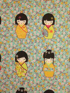 Tissus japonais, Tissu de coton à motif liberty / japonais est une création orginale de Popeline-et-Patalin sur DaWanda