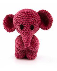 Hoooked Elephant Mo (punch) amigurumi crochet kit & pattern #crochet #gift #cute #animal #craft