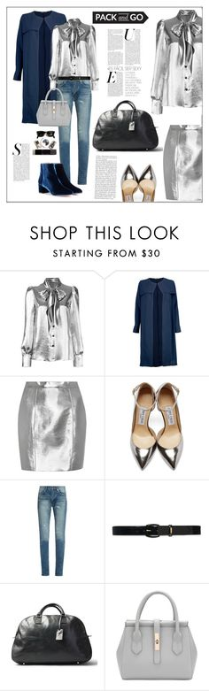 """""""Pack and Go..."""" by frenchfriesblackmg ❤ liked on Polyvore featuring Yves Saint Laurent, Boohoo, Jimmy Choo, Lauren Ralph Lauren, Maxwell Scott Bags and Aquazzura"""
