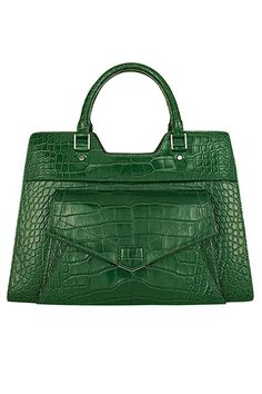 The Extras: Going Green: Proenza Schouler bag, Similar styles available at shopBAZAAR.com.