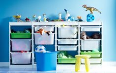 Ikea for kids..  such a cute way to organise!