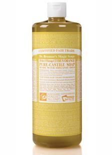Dr Bronner's Soap. I used the Citrus one with a dab of coconut oil as shaving cream... smelled like a tropical smoothie and worked like a charm