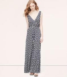 Thumbnail Image of Primary Image of Ikat Print V-Neck Maxi Dress