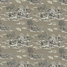 Pewter Toile Toile Fabric by ShopMyFabrics on Etsy
