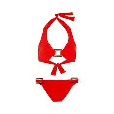 Bikini Halterneck Paris, de Mélissa Odabash.  Info : net-a-porter.com. Prix : 210$