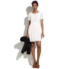 Madewell Sodashop Dress in White (pearl ivory)