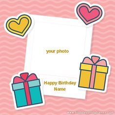 Get the wide selection of birthday card with photo upload at birthdayphotoframes for your loved one, friends and family. Birthday Wishes For Fiance, Birthday Wishes With Photo, Create Birthday Card, Birthday Card With Name, Birthday Photo Frame, Happy Birthday Frame, Beautiful Birthday Cards, Happy Birthday Wishes Cards, Cool Birthday Cards